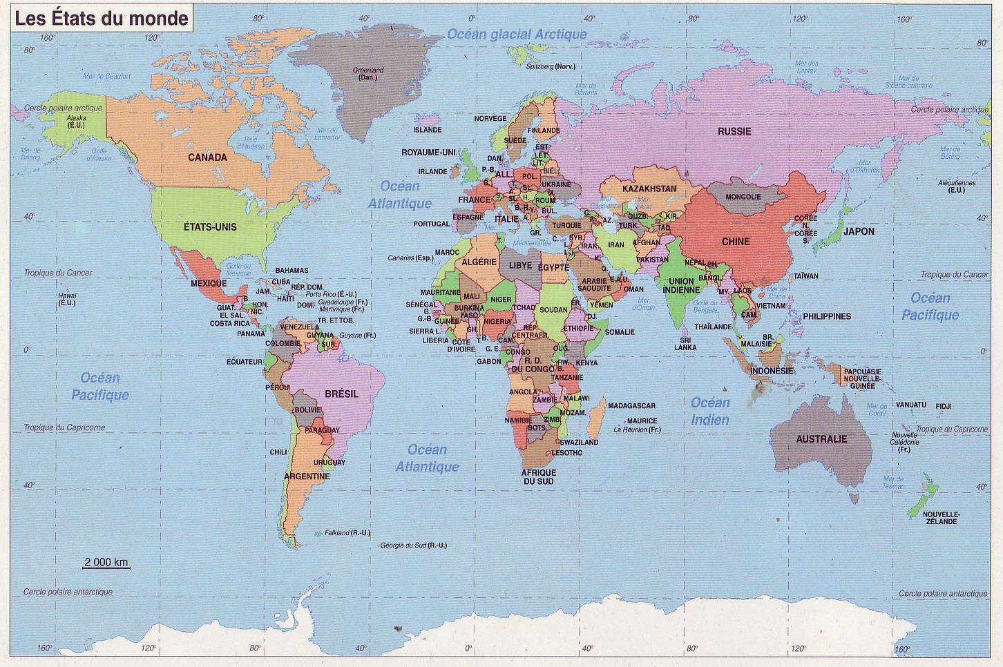 carte du monde avec pays 2014. Black Bedroom Furniture Sets. Home Design Ideas