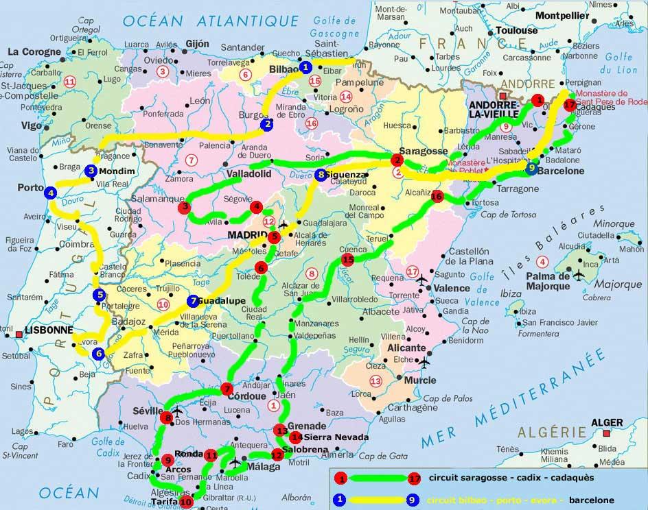 Carte Espagne Faro.Carte Espagne Cartes Du Monde Pays